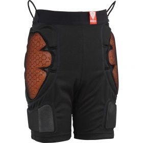 Red Mens Base Layer Padded Shorts in Black (Large)