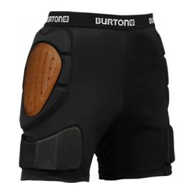 Burton Mens Total Impact Padded Shorts in Black (Extra Large)
