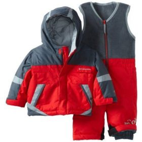 Columbia Buga Set Ski Two Piece in Red (2 Years)