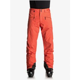 Quicksilver Boundry Mens Ski Trousers / Salopettes in Mandarin Red (Medium)