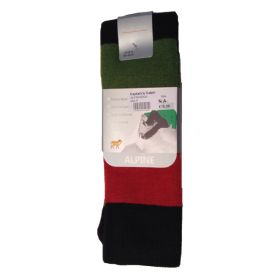 Horizon Mens Merino Wool Ski Socks in Hoops Multi (Medium)