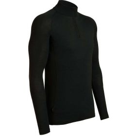 Icebreaker Mens Every Day Long Sleeve Half Zip Base Layer Top in Black (XX Large)