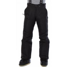 Icepeak Mens Travis Ski Trousers / Salopettes in Black (Extra Small)