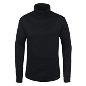 Manbi Womens / Mens Cotton Roll Neck Fleece in Black (Extra Extra Large)