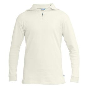 Manbi Womens / Mens Cotton Zip Neck Fleece in Winter White(Extra Small)