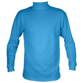 Manbi Womens / Mens Cotton Rollneck Fleece in Electric Blue (Medium)