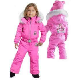Poivre Blanc Infant Ski One Piece in Candy Pink (3 Years)