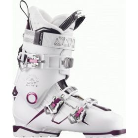 Salomon Quest Pro 80w Ski Boots in White / Burgundy (24.5)