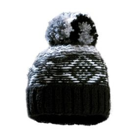 Starling Hat Beanie in Black / White / 13015D