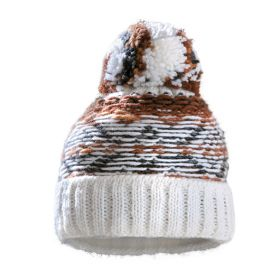 Starling Hat Beanie in Brown / White / 13015 C