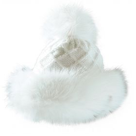 Starling Tania Fake Fur & Wool Hat in White / 14031A