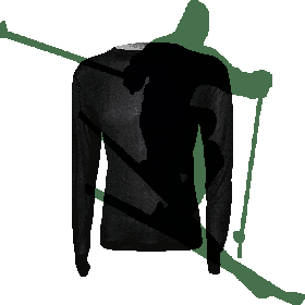 Steiner Mens Long Sleeve Base Layer Top in Black (Medium)