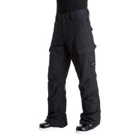 Quicksilver Porter Cargo Mens Ski Trousers / Salopettes in Black (Extra Large)