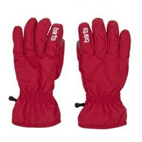 Barts Kids / Girls / Boys Tec Ski Gloves / Mittens in Red (8-10 Years / Size 5)