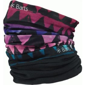 Barts Multicol Polar Snoods / Scarfs / Neckwarmers in African Print Purple (Adult)