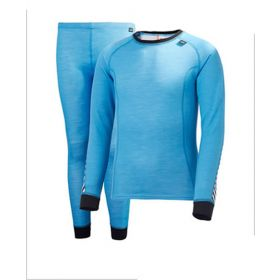 Helly Hansen Womens Lifa Two Piece Base Layer in Dry Ice Blue (Ladies 12)