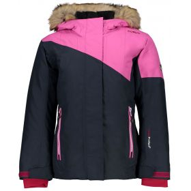 CMP Campagnolo Kids / Girls Two Tone Fix Hood Ski Jacket in Asphalt Pink (14 Years)