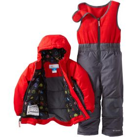 Columbia Unisex Ski Two Piece in Red / Grey (3 Years)