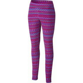 Columbia Skinny Legins Base Layer in Glacial Plum Print (Ladies 16)