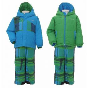 Columbia Slush Revers Set Ski Two Piece in Blue / Green (18 Months)