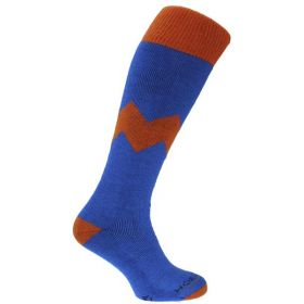Horizon Alpine Ski Socks in Blue/Orange (UK 8 -12 / EU 42-47)