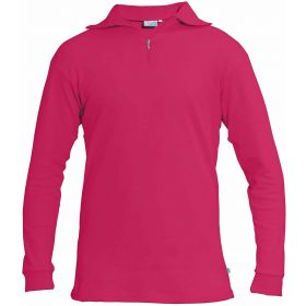 Manbi Womens / Mens Cotton Zip Neck Fleece in Magenta (Small)