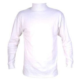 Manbi Mens / Womens / Unisex Cotton Roll Neck Fleece in White (Small)