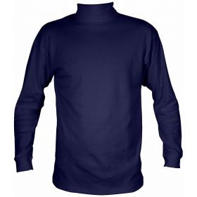 Manbi Womens / Mens Cotton Roll Neck Fleece in Navy (Small)