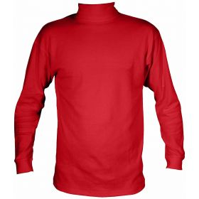 Manbi Womens / Mens Cotton Roll Neck Fleece in True Red (Extra Large)