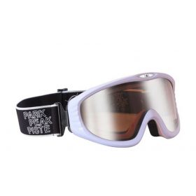 Manbi Vulcan Ski Goggles in White Gloss With Silver / Mirror Lens