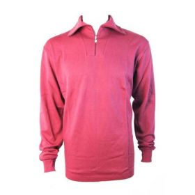 Manbi Womens / Mens Cotton Zip Neck Fleece in Fuschia (Small)