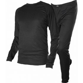 Pantz Mens Two Piece Base Layer in Black (Small)