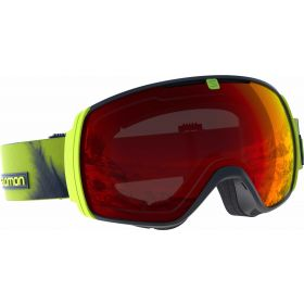 Salomon XTOne Ski Goggles in Acid lime mid red