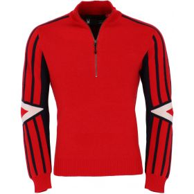 Spyder Rad Pad Half Zip Ski Jumper in Red White Frost (Large)
