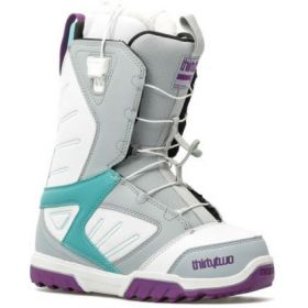 Thirty Two Womens Groomer Snowboard Boots in Grey / White (38.0)